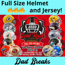 CHICAGO BEARS signed/autographed Gold Rush FULL-SIZE HELMET and Jersey box BREAK