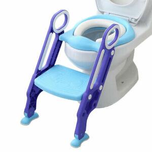 3 in 1 Toilettentrainer Kinder Toilettensitz Baby Lerntöpfchen Faltbar Leiter