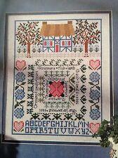 Herb Garden counted cross stitch magazine pattern, fabric & floss lot