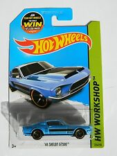 Hot Wheels '68 Shelby GT500 Workshop 2015 Muscle Mania 226 /250 G case blue