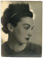 Photo Waroline Paris - Jeune Femme - Epreuve argentique d'époque 1950 -