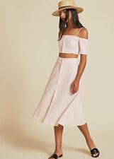 the reformation off shoulder top & skirt Dress sz0
