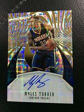 2016-17 Panini Revolution  Myles Turner on card Autograph AUTO Pacers Hot