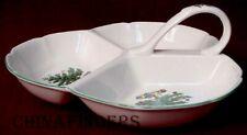 "NIKKO china HAPPY HOLIDAYS pattern Triple Divide Relish Dish - 8-3/4"" x 9-1/8"""