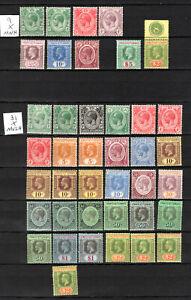 MALAYA STRAITS SETTLEMENT 1912-1922  KGV COMPLETE SET TO $5.00 MNH & MVLH STAMPS