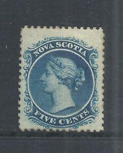 NOVA SCOTIA SCOTT 10 MNG FINE - 1860 5c BLUE VICTORIA ISSUE   CV $425.00*