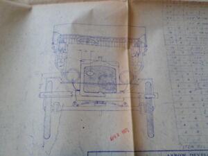 Arrow Development Company Antique Auto body fastener location blue print