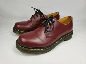 Womens US Size 8 Doc DR MARTENS 1461 11837 Cherry Red Leather Oxford Shoe UK 6