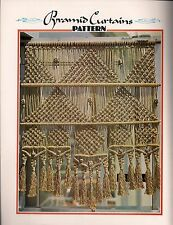Pyramid Curtains - BOOK ONLY # Z05 Juliano's Hang It All - Macrame Patterns