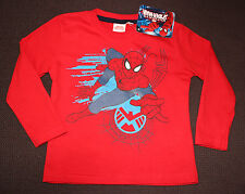 MARVEL t-shirt rouge SPIDERMAN  taille 2-3 ans manches longues NEUF