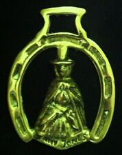 Vintage JENNY JONES HORSESHOE FRAME Harness Brass England WOW YOUR WALLS Celtic