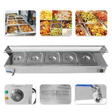 Bain-Marie Buffet 5-Pan Food Warmer Steam Table Steamer 5 Pots Large 30L 1500W