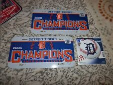 Detroit Tigers License Plate lot 2 plates 1 magnet MLB 2006 WS VTG NEW