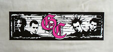 Rare VINYL STICKER Decal GOOD CHARLOTTE Pink Initials Members S2643 16.5cm x 5cm
