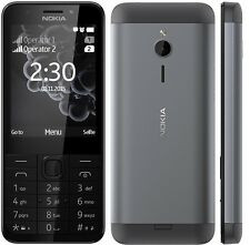 BRAND NEW NOKIA  230 SINGLE SIM UNLOCK MOBILE PHONE - DARK SILVER GENUINE