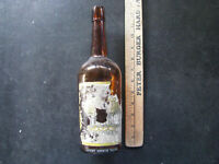 c1910 EVERGLADE WHISKEY BOTTLE w/ Label STANDARD LIQUOR Co. SALEM OREGON ANTIQUE