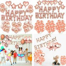 Rose Gold 51pcs Happy Birthday Decorations Birthday Confetti Latex Balloon Party