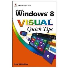 Windows 8 Visual Quick Tips by Paul McFedries (2012, Paperback) full color