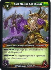 World of Warcraft WOW TCG Reign of Fire: Cult Master Kel 'thuzad x 3