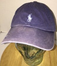 POLO RALPH LAUREN Hat Cap Leather Belt Back PONY Distressed & Well Worn Slouch