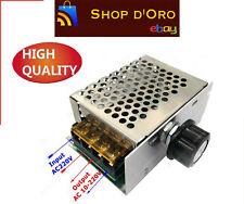 4000W 220V AC Dimmer Dimming - Driver regolatore elettronico SCR velocità giri.
