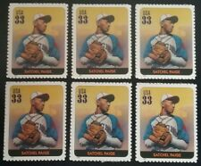 SATCHEL PAIGE LOT of 6 US Baseball COMMEMORATIVE Unused MNH Postage Stamps