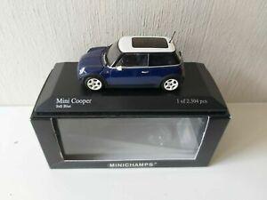 Minichamps 1/43 Mini Cooper - Bleu Indi - 2001 - 431138100