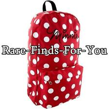 Disney Park Minnie Mouse Dots Backpack Book Bag with Removable Hood Bow Ears NEW