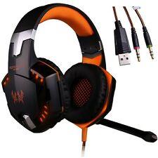 UK EACH G2000 Game Gaming Earphone Headphone Headset Headband with Mic for PC