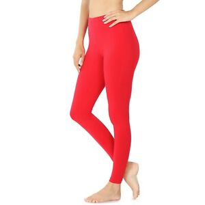 Zenana Long Leggings Yoga Pants Cotton Stretch S-XL Plus 1X-3X  *USA*  #1874