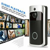 Smart WiFi Doorbell Wireless IR Video Camera Intercom Record Home Bells CA