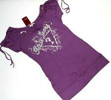GUESS  size S  elegant blouse tunic top  purple boat neck