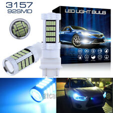 2x 92-4014SMD Ice Blue 3157 4114 4157 LED DRL Driving Daytime Running Light Bulb