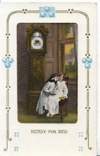 Children Postcard - Ready For Bed - Two Small Girls - Ref ZZ5287