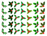 35 X MIXED HOLLY & BERRY PREMIUM CHRISTMAS EDIBLE CUPCAKE CAKE TOPPERS XMAS D3