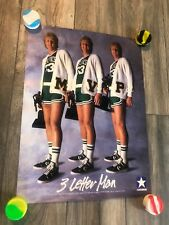 Rare Larry Bird 1980's Converse 3 Time MVP Poster New