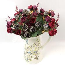 Künstliche Rose Blumen Blumenstrauß Kunstrose Haus Zimmer Hochzeit Dekor 6 Stil