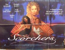 Faye Dunaway  Emily Lloyd  SCORCHERS(1991) Original UK quad movie poster