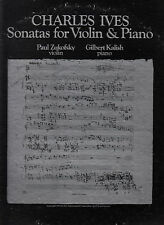 CHARLES IVES SONATAS FOR VIOLIN A PIANO-ZUKOFSKY-KALISH 1974-DOUBLE GATEFOLD VG+
