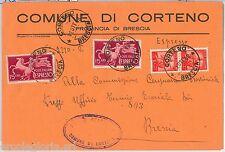 57128 - REPUBBLICA - STORIA POSTALE: ESPRESSI su BUSTA da CORTENO 1948