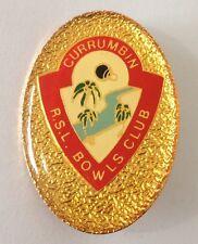 Currumbin RSL Bowling Club Badge Pin Vintage Lawn Bowls (L16)