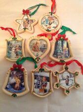 Vintage M.J. Hummel Danbury Mint Christmas Ornaments Ceramic Set Of 8