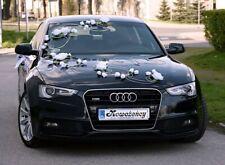 Wedding car decoration Flower And Hearts set bows, garland wedding car flowers