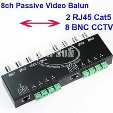 UTP 8 Channel CH Passive Video Balun to CAT5 RJ45 & 8 BNC CCTV Adapter Q-208 AU