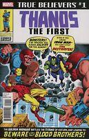 TRUE BELIEVERS THANOS THE FIRST #1 REPRINTS IRON MAN #55 MARVEL COMICS DRAXX