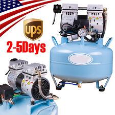 Portable Dental Medical Air Compressor Noiseless Silent Oilless Filter f/ Chair