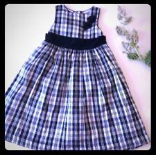Vintage Laura Ashley 3T Silk Taffeta Velvet Long Dress Black & White Flower Girl