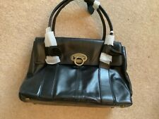 Next black leather handbag new with tags signature collection, tag is slightly d