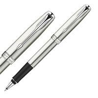 Parker Sonnet Series Steel Color White Clip 0.5mm Nib Rollerball Pen