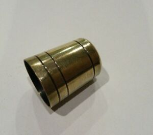 """SOLID BRASS WALKING STICK """"ULTRA"""" FERRULES. THICK *4mm BASE* Choice of 12 SIZES"""